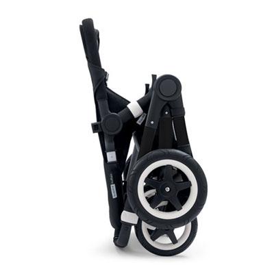 Pack poussette duo buffalo+ châssis et base noir capote + tablier noir Bugaboo