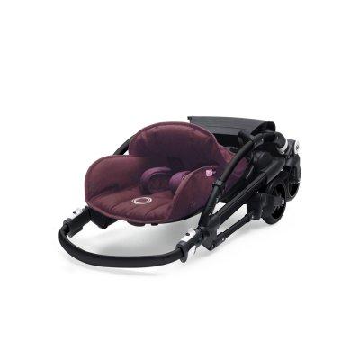 Poussette 4 roues bee5 châssis noir + housse rouge chiné Bugaboo