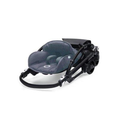 Poussette 4 roues bee5 châssis noir + housse bleu chiné Bugaboo