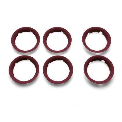 Poussette bee5 complète châssis noir + housse gris chiné + capote rouge chiné + poignées noir Bugaboo