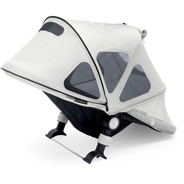 Protection soleil capote à fenêtres pour poussette cameleon 3 gris arctique Bugaboo