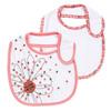 Lot de 2 bavoirs naissance rosée gourmande Badabulle