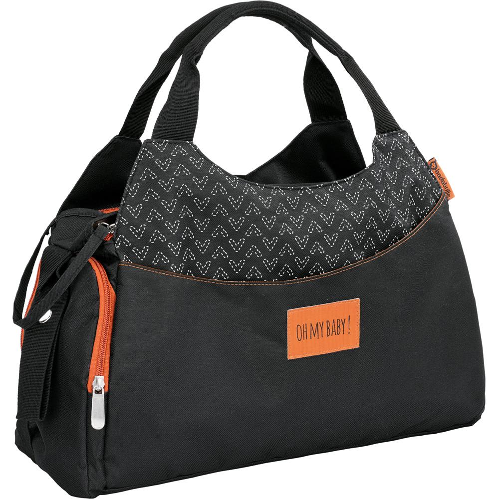 sac langer multipocket noir de badabulle sur allob b. Black Bedroom Furniture Sets. Home Design Ideas