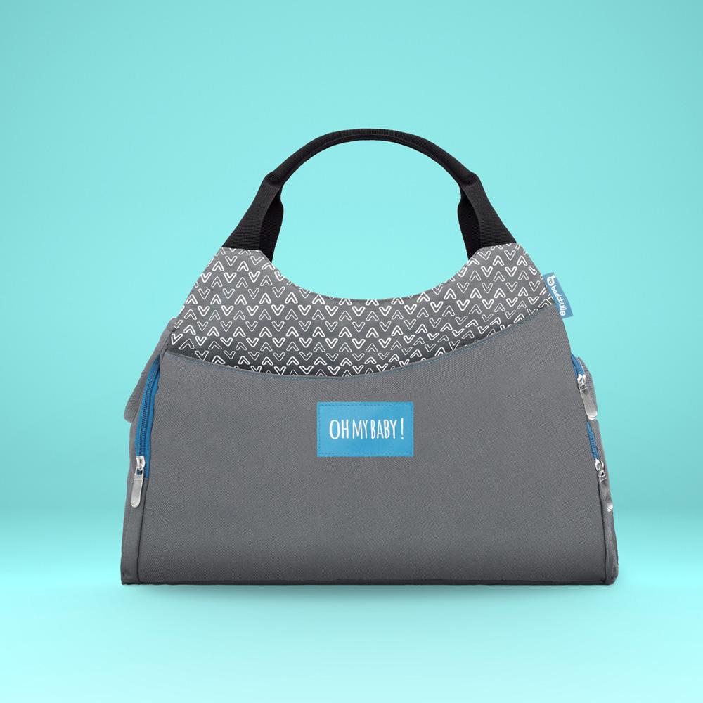 sac langer multipocket gris de badabulle chez naturab b. Black Bedroom Furniture Sets. Home Design Ideas