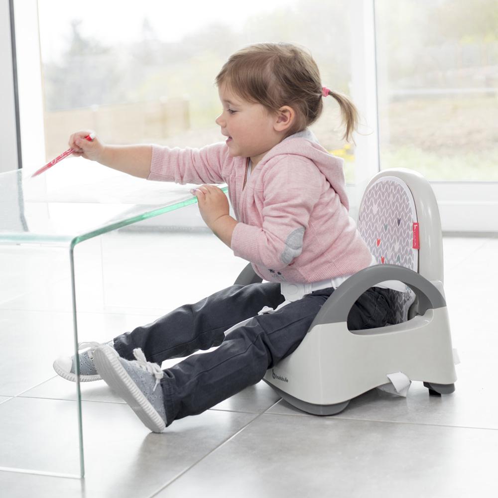 r hausseur de chaise confort chevron gris de badabulle. Black Bedroom Furniture Sets. Home Design Ideas