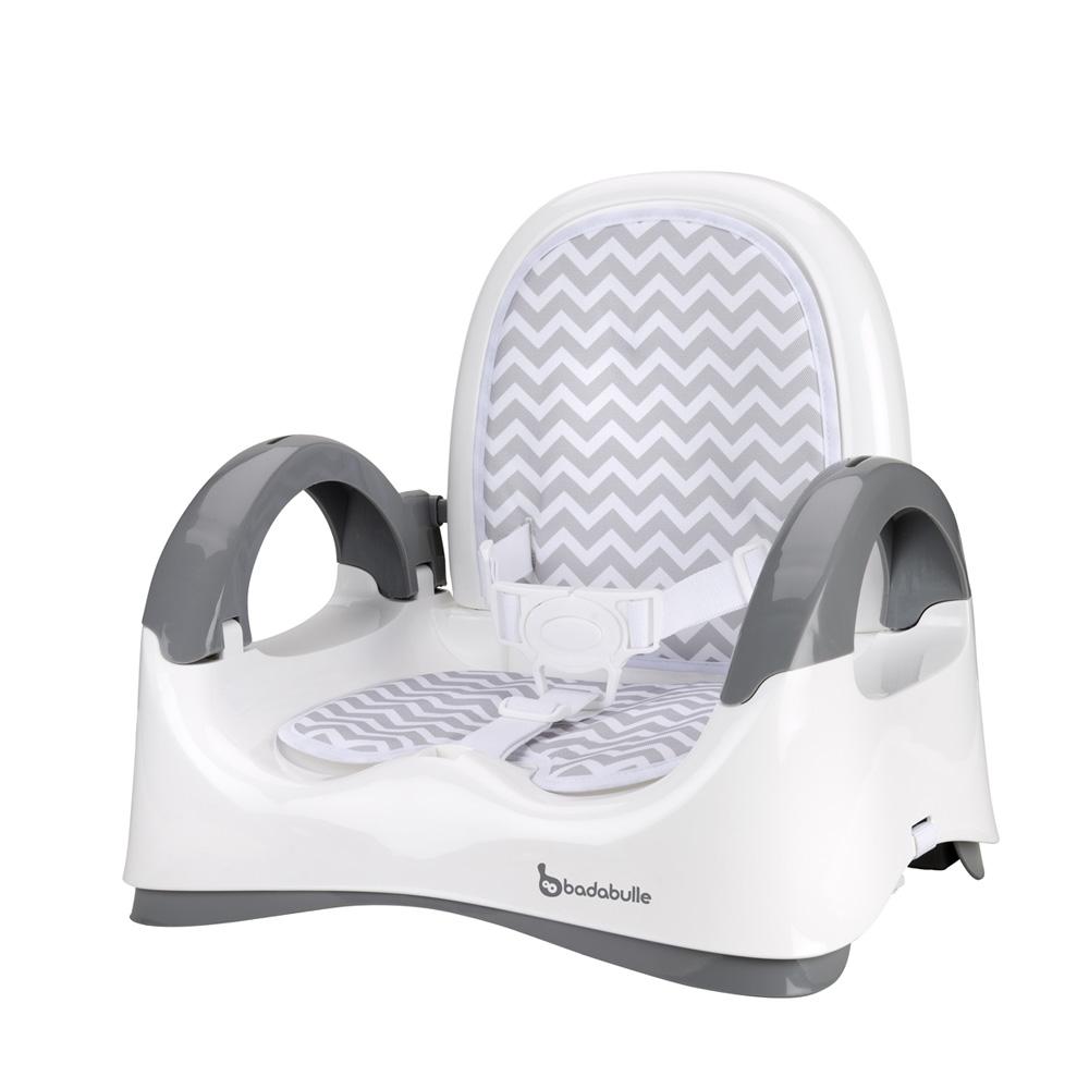 r hausseur de chaise confort blanc et gris de badabulle sur allob b. Black Bedroom Furniture Sets. Home Design Ideas