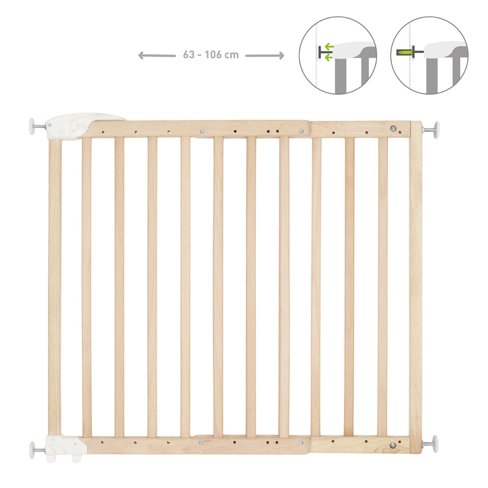 Protection Pour Marche D Escalier barrière de sécurité déco pop fixation vis et pression bois naturel
