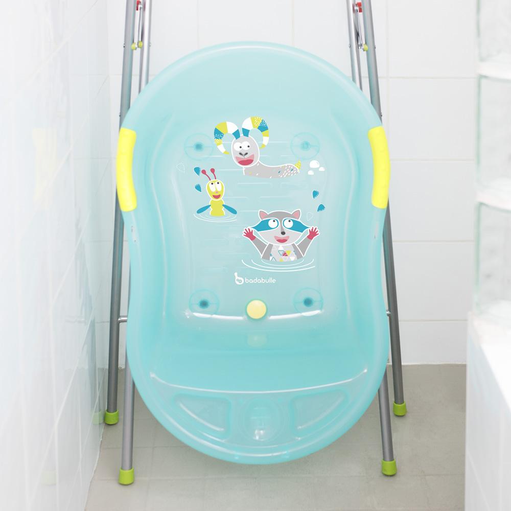 baignoire b b ergo ludique bleue montagne de badabulle sur allob b. Black Bedroom Furniture Sets. Home Design Ideas