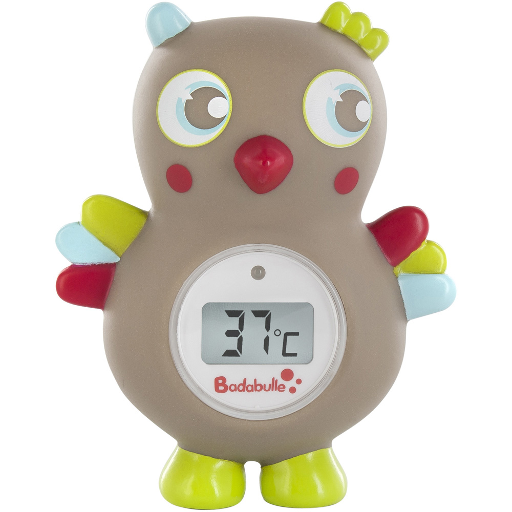 Badabulle thermom tre de bain b b digital hibou for Thermometre chambre bebe