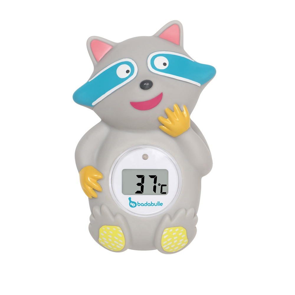Thermom tre de bain digital racon de badabulle sur allob b for Thermometre de chambre bebe