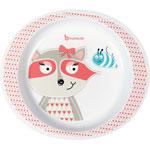 Assiette bébé pink racoon