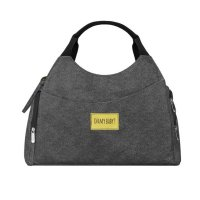 Sac à langer multipocket gris chiné