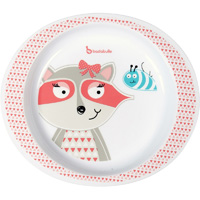 Assiette pink racoon
