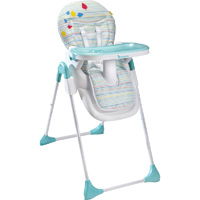 Chaise haute bébé easy blue grey