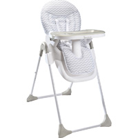 Chaise haute bébé easy white grey
