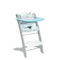 Chaise haute bébé évolutive bleu et gris