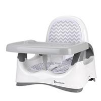 Réhausseur de chaise confort blanc et gris