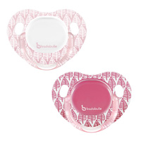 Lot de 2 sucettes silicone 6-12 mois spring leaves fille