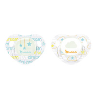 Lot de 2 sucettes siliconne phosphorescentes 0-6 mois cloud dream