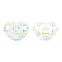 Lot de 2 sucettes siliconne phosphorescentes 0-6 mois cloud dream