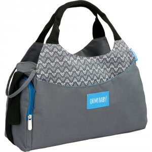 Sac à langer multipocket gris