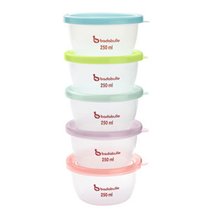 Lot de 5 pots de conservation maxi-portions