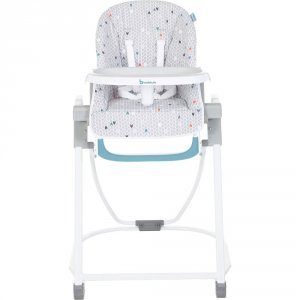Chaise haute compacte chevrons grise
