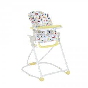 Chaise haute compacte confetti jaune