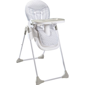 Chaise haute easy white grey