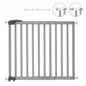 Barrière de sécurité déco pop fixation vis et pression gris