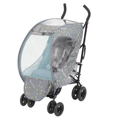 Housse de pluie et moustiquaire pliable et universelle Badabulle