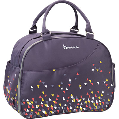 Sac à langer week-end confetti purple Badabulle