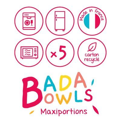 Lot de 5 maxi portions fun couleurs Badabulle