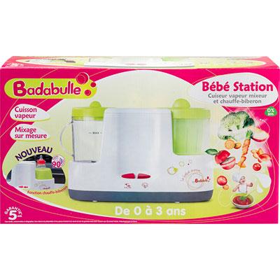 robot cuiseur mixeur b b station chauffe biberon de badabulle sur allob b. Black Bedroom Furniture Sets. Home Design Ideas