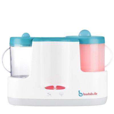Robot cuiseur-mixeur bébé station bleu gris Badabulle