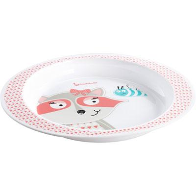 Assiette bébé pink racoon Badabulle