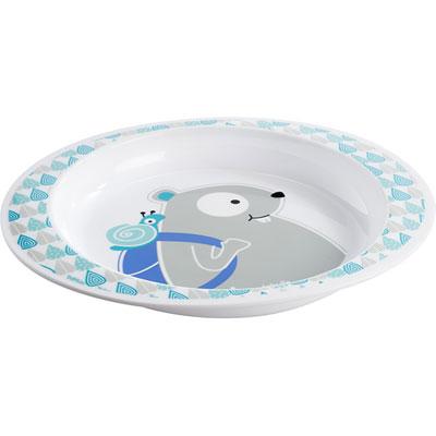 Assiette bébé blue beaver Badabulle