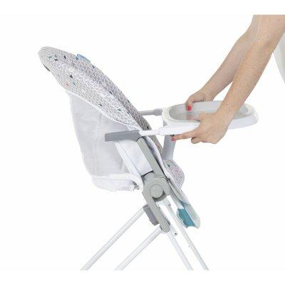 Chaise haute compacte chevrons grise Badabulle