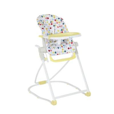 Chaise haute compacte confetti jaune Badabulle