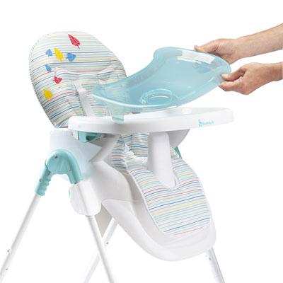 Chaise haute bébé easy blue grey Badabulle