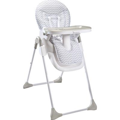 Chaise haute bébé easy white grey Badabulle