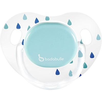 Lot de 2 sucettes silicone 12-36 mois rain drop garçon Badabulle
