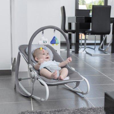 Transat bébé easy white grey Badabulle