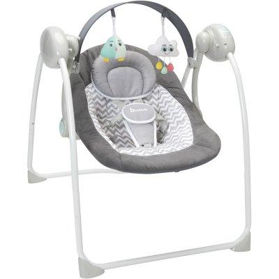 Balancelle bébé gris et blanc confort Badabulle