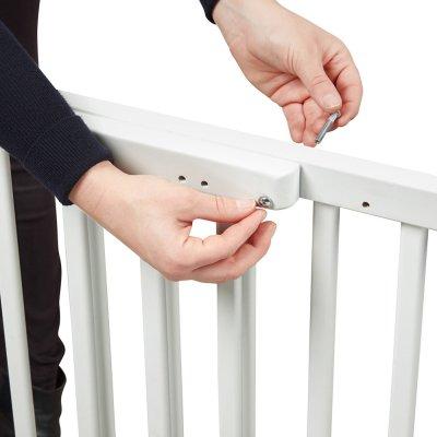 Barrière de sécurité déco pop fixation vis et pression blanc Badabulle