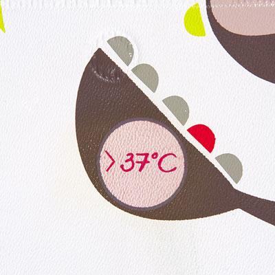 Tapis de bain bébé témoin température Badabulle
