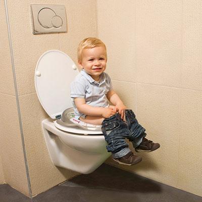 Réducteur toilette rembourré taupe Badabulle