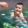 Baignoire bébé gonflable lagon Badabulle