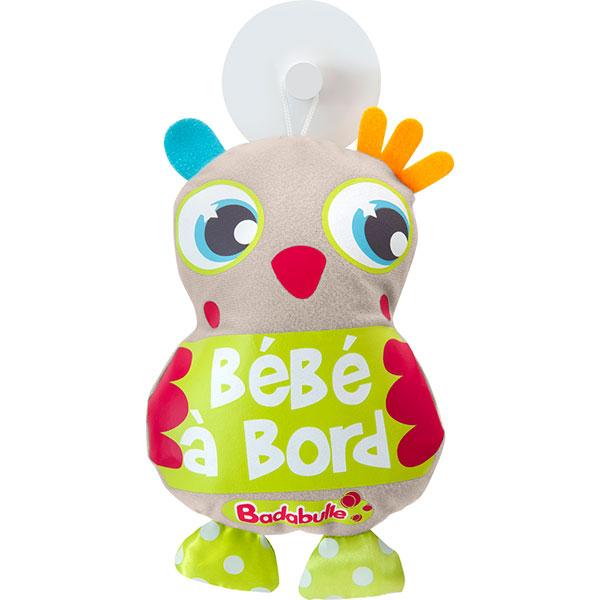 Signalétique bébé à bord hibou Badabulle