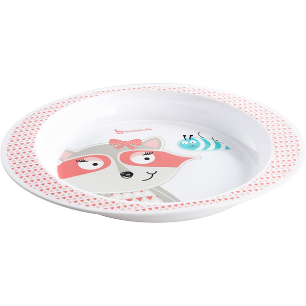 Assiette pink racoon Badabulle